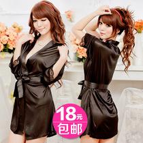 包邮!蕾丝花边性感外罩衫睡袍 和服套装诱惑女士情趣内衣开9817 价格:18.00