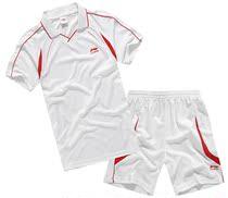 特价 李宁足球服光板组队足球衣服短袖运动套装 足球训练服比赛服 价格:55.00
