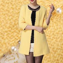 2013秋装新款女装潮蕾丝粗花呢珍珠镶边小香风外套开衫女春秋大码 价格:288.00