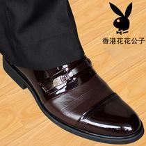 花花公子男鞋商务正装皮鞋韩版英伦优雅男士休闲透气真皮板鞋潮鞋 价格:153.00