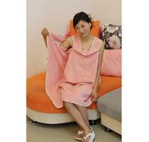 可爱日式浴衣浴袍纯棉女外贸浴裙竹纤维毛巾料加大浴巾抹胸 包邮 价格:79.00