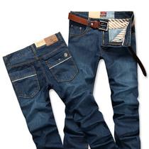 2013年新款万宝路牛仔裤男装韩版潮直筒大码中腰春季新款 价格:125.00