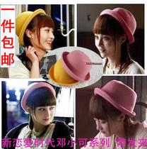 包邮 新恋爱时代时尚小礼帽 2013邓小可姚笛圆顶帽 毛呢表演帽子 价格:25.00