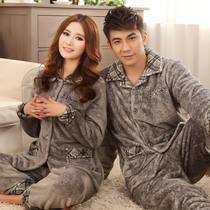 秋冬季加厚款 法兰绒珊瑚绒睡衣休闲情侣男女式长袖套装 包邮 价格:118.00