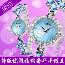 手表女学生手链表防水金米欧时装表女表韩国时尚四叶草手表复古表 价格:89.90