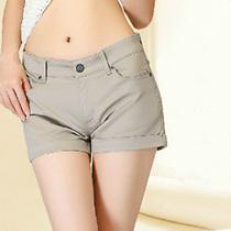 包邮2013新款短裤夏装女热裤修身显瘦百搭中腰夏季 价格:9.50