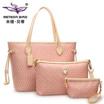 米缇贝蒂女士手提单肩包包欧美潮包2013女包新款夏季三件套子母包 价格:209.00