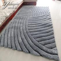 雅博品 新款高端欧式立体感3D弹力丝地毯 卧室客厅茶几沙发地毯 价格:96.80