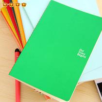 满9.9包邮 韩国文具纯色初品彩虹车线记事本实用日记本笔记本7389 价格:2.60