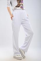 奥米达南韩丝不加条纯白色运动裤男女运动长裤休闲裤 团体体操裤 价格:65.00