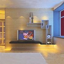 简约电视柜 烤漆电视墙组合电视背景墙隔板白色田园电视机柜包邮 价格:110.00