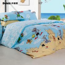 多喜爱家纺 新品 华纳猫和老鼠 玩转夏天 纯棉斜纹抗菌三/四件套 价格:358.07