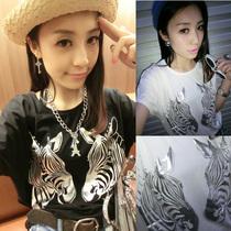 包邮女装2013夏装新款雪纺短袖T恤韩版蝙蝠袖显瘦大码女t恤短袖夏 价格:25.00
