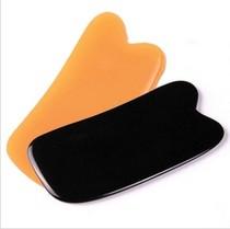 树脂蜜蜡方形刮痧板 刮痧片 面部瘦脸活血畅通经脉美容刮痧板 价格:3.00