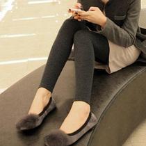 韩国代购 秋装新款 高品质加绒加厚保暖大码显瘦女士打底裤韩版潮 价格:49.68