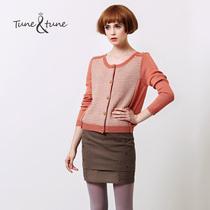 6折 tune tune 2013 秋装新款女装 撞色女款长袖针织衫 开衫外套 价格:233.40
