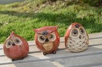 瑕疵  家居创意小礼品 高温彩釉陶瓷猫头鹰摆件 存钱罐 价格:11.00