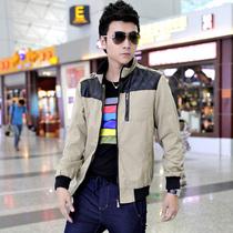 杰罗乔治2013秋冬新款男装夹克 潮青年仿皮拼接高端品质上衣外套 价格:158.00