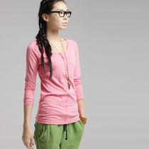 【云上生活】原创设计文艺棉T恤长袖女圆领女t恤秋 33T167 价格:99.44
