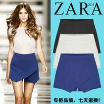 ZARA 大牌米兰风裙裤 2013新款韩版修身显瘦雪纺大码短裤中高腰女 价格:79.00