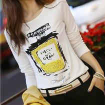 七十二变时尚屋72变时尚屋2013秋装新款女装T恤女长袖打底衫上衣 价格:39.00