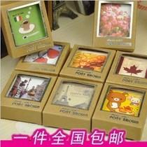 一本包邮!复古lomo风格 牛皮纸盒装明信片 装饰 小卡片 40张入 价格:12.00