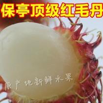 海南新鲜红毛丹 产地现摘新鲜水果 特价促销 5斤起拍 多省包邮 价格:17.00