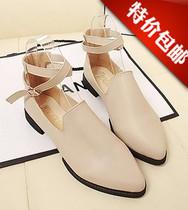 2013秋季韩版低帮浅口百搭休闲小白鞋平跟平底尖头单鞋欧美风女鞋 价格:35.00