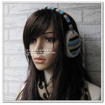 原单时尚彩色条纹彩虹针织毛线耳套女款冬天可爱耳罩韩版 清新2色 价格:14.90