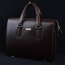 新款专柜正品阿玛尼男包单肩包头层牛皮手提包商务包公文包电脑包 价格:808.00