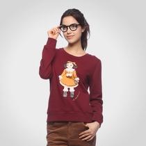[品牌特惠]艾格 ES 冬季2 女孩胶印长袖抓绒卫衣12032844509 价格:107.55