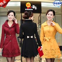 2013秋装新款哥弟女士风衣时尚女装韩版修身形中长款外套风衣正品 价格:440.00