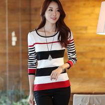 2013秋装新款韩版女装修身打底衫长袖打底毛衣大码套头针织衫女款 价格:39.00