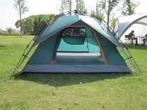 寒露户外野营自动帐篷 自动拉绳速搭三人双层家庭户外露营帐篷 价格:208.00