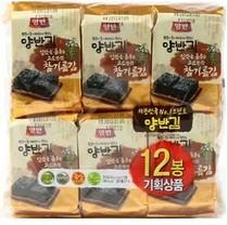 现货!韩国正品代购东远Dongwon两班芝麻油烤紫菜(海苔5克*12包 价格:39.00