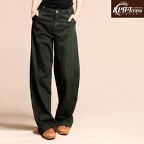此时高端定制 成衣染色高腰灯笼裤阔腿裤 女士休闲裤长裤新款秋装 价格:252.85