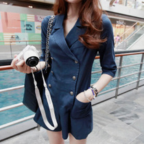 2013韩版新款时尚秋冬装流行女装 军装风双排扣连体裤72300 价格:80.00