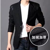 冬季2013杰�w琼斯正品西服男士韩版休闲加绒加厚小西装七匹狼外套 价格:158.00
