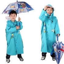 全球首创头盔式防雨帽檐 韩国儿童雨衣带书包位儿童雨披学生雨披 价格:49.00