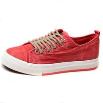 2013人本帆布鞋子韩版潮女夏季低帮透气纯色系带厚底松糕牛仔布鞋 价格:56.90