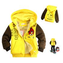 米曲 包邮2013冬装新款愤怒的小鸟童装儿童棉衣外套棉服男童韩版 价格:89.00