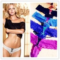 出口欧单外贸原单T裤丁字裤蕾丝性感女士内裤 7-26-11 S M L XL 价格:9.99
