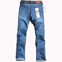 卡斯迪奥秋款牛仔裤男中腰直筒修身浅蓝色百搭长裤包邮青年商务 价格:107.20