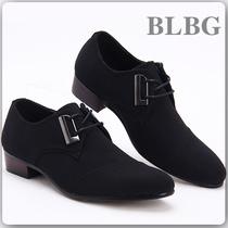 韩版英伦低帮鞋时尚潮流流行男鞋商务休闲鞋透气皮鞋子黑色春秋款 价格:88.00