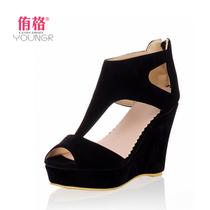 2013夏季新款凉鞋欧美松糕厚底鞋罗马超高跟潮防水台鱼嘴坡跟女鞋 价格:49.00