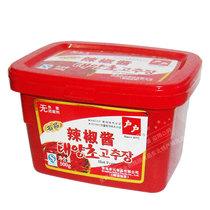 正宗户户辣椒酱500克盒装 韩式辣椒酱 韩国石锅拌饭酱甜辣酱 辣酱 价格:8.00