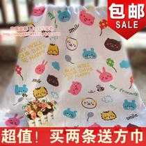 外贸双层蜂巢纱布大人婴儿童浴巾纯棉加大卡通柔软抱被特价包邮 价格:35.80