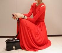 2013春装新款韩版修身长款针织露肩女装连衣裙子 价格:45.00