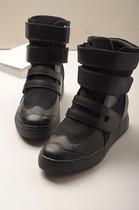 2013秋季新款女帆布鞋松糕鞋高帮厚底内增高韩版英伦潮女靴帮女鞋 价格:149.00