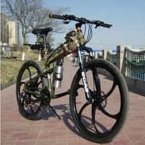 悍马山地车 26寸折叠山地自行车 时髦越野变速车 单车 减震车 价格:488.00